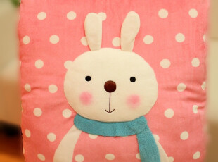 米西公主 正版 提拉米苏兔兔 正方形立体大抱枕 靠枕 腰靠...,玩偶,