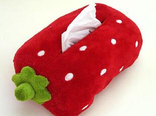 特价!Mother Gardenの可爱野草莓立体造型毛绒纸巾套纸巾抽,玩偶,