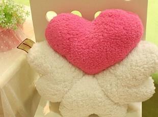 米西公主 正版 爱心花瓣 四叶草 舒棉绒坐垫 靠垫 中秋节节礼物,玩偶,