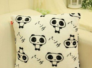 米西公主可爱卡通家居 熊猫 抱枕靠垫靠枕 靠背 腰靠 腰枕 可拆洗,玩偶,