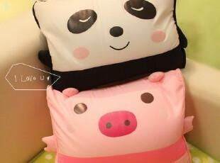 米西公主 可爱卡通 熊猫 青蛙 猪 纳米粒子抱枕靠垫靠枕 午休枕,玩偶,