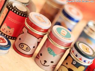 超级可爱mini心情小罐胶卷31天心情信纸小铁盒收纳小盒子秘密盒,玩偶,