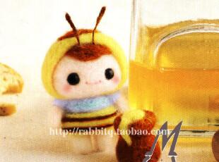 可爱的蜜蜂酱~小蜜蜂日系萌物 材料包成品 羊毛毡 戳戳乐手工DIY,玩偶,
