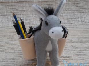 笔筒驴 驴友办公室最爱 毛绒玩具 驴子 礼物 默奇 正版 玩偶 笔筒,玩偶,