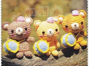 小熊鼓手diy钩编钩针玩偶材料包人气毛线娃娃,玩偶,