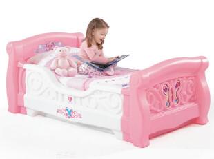 金宝贝早教 美国STEP2原装 8856女孩可爱雪橇床公主儿童家具床SQ,玩偶,