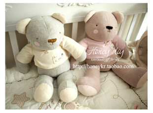honeyDIY宝宝 婴儿纯棉大憨熊玩具玩偶材料包(非成品),玩偶,