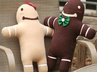 疯果盒子纯手工原创姜i饼娃娃中号公仔玩偶姜饼情侣圣诞礼物对装,玩偶,