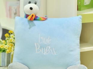 萌萌兔 可爱方形bubu熊抱枕 靠垫 沙发抱枕 靠枕 午睡枕 毛绒玩具,玩偶,