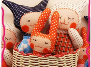 原创手工布偶 玩偶 娃娃 生日礼物 出售材料包 迷糊娃娃,玩偶,