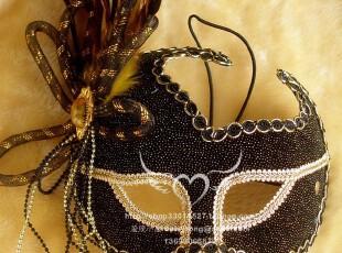 高档威尼斯面具/万圣节面具/舞会面具-黑色诱惑yl-003(B款),玩偶,