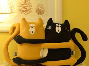 原创家居设计品牌自在 磁力猫 布艺玩偶 娃娃抱枕/靠垫,玩偶,