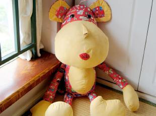 麦多拉-我的喜宝宝 民族风 布艺大头狗抱枕  娃娃玩具,玩偶,