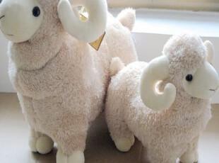 毛绒玩具可爱小绵羊咩咩羊山羊公仔大羊玩偶生日礼物摆设,玩偶,