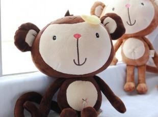 批发毛绒玩具 恋爱猴子 香蕉猴大号公仔玩偶 长尾猴 男女婚庆礼物,玩偶,