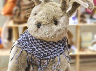 商城正品 泰迪兔 兔公仔 兔毛绒玩具 灰棕色毛绒兔子 TOBY TOME,玩偶,