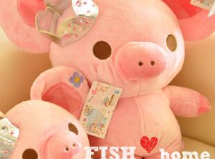 【50包邮】皇冠猪 粉猪小姐 毛绒公仔 毛绒玩具 大小号选,玩偶,
