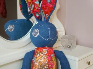 麦多拉-我的喜娃娃 布艺牛仔兔 娃娃玩具礼品(大号),玩偶,