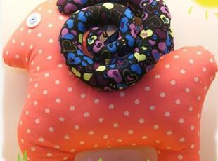 原创手工布偶 娃娃 生日礼物 创意抱枕 靠枕 梦幻可爱胖胖山羊,玩偶,