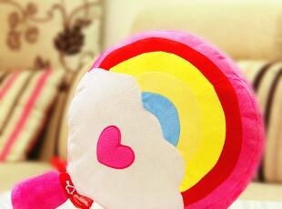 尤朵拉 彩虹抱枕 棒棒糖毛绒玩具 抱枕创意 抱枕靠垫 可爱 送女生,玩偶,