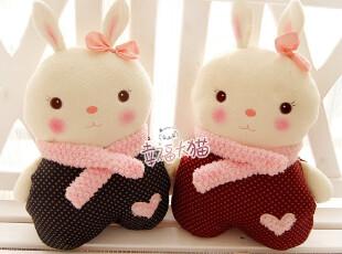 2011冬metoo正品提拉米兔 情侣兔子毛绒玩具公仔靠垫抱枕暖手枕,玩偶,
