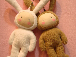 包包挂件毛绒玩具情侣挂件手工娃娃兔子先生小姐萌系韩版安东尼,玩偶,