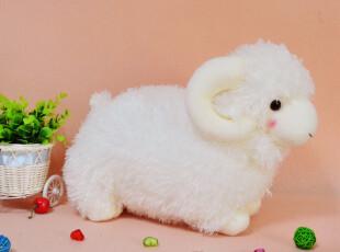 毛绒玩具批发特价 可爱仿真小绵羊公仔 站姿羊玩偶 三色,玩偶,