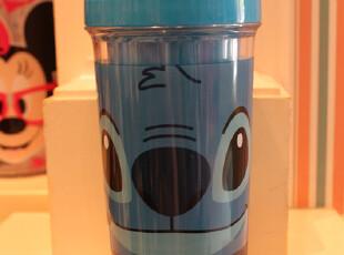 香港迪士尼代购正版史迪奇水壶水杯塑料杯可爱学生杯礼品杯子,玩偶,