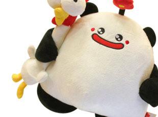 米西公主超可爱BOBO熊猫&TOTO鸡公仔 抱枕公仔娃娃 毛绒玩具 送礼,玩偶,