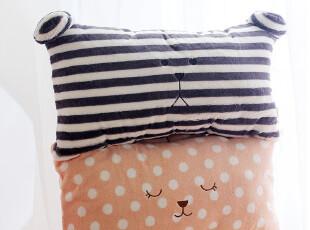 特!可拆洗 双人单人枕头  梨花波点兔 条纹熊毛绒公仔靠垫抱枕,玩偶,