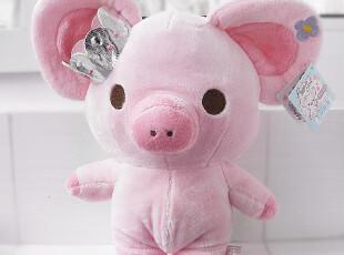 日本正品San-X Piggy Girl 粉嫩嫩的小猪 毛绒公仔 两个号,玩偶,