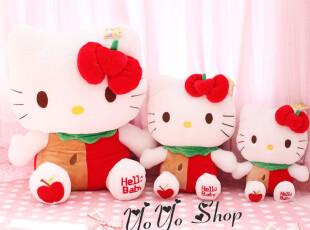 外单好品质 送人礼物 hello kitty红苹果超大公仔 kitty公仔,玩偶,