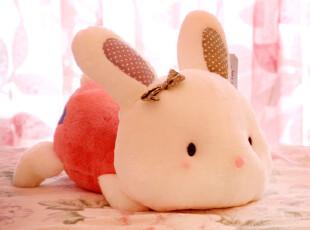 趴姿眯眯兔 毛绒玩具兔子 可爱玩偶 布娃娃 儿童玩具 蓝白玩偶,玩偶,