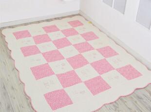 『韩国代购』A561舒适格子衍缝棉质布艺榻榻米垫\爬行垫 三色可选,玩偶,