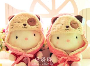 韩版 可爱卡通熊 猫毛绒玩具宝宝 儿童 雷锋护耳长保暖帽,玩偶,