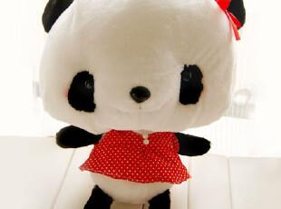 猫阁阁 卡通红脸连衣裙害羞熊猫 可爱中国风纪念 毛绒玩具公仔,玩偶,