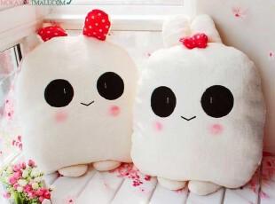 可爱情侣兔子熊猫抱枕靠垫 办公室午睡枕趴睡枕 生日礼物女生实用,玩偶,