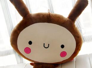 猫阁阁 韩国可爱个性情侣兔子毛绒玩具公仔 超萌好心情 靠垫抱枕,玩偶,