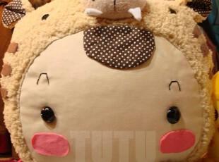 原创老虎手工抱枕靠枕手工娃娃公仔卡通可爱生日礼物毛绒玩具,玩偶,