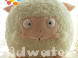 3dwater毛绒玩具-可爱韩国AMANGS专柜正品天使羊公仔卡通白羊座,玩偶,