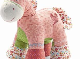 毛绒玩具*布艺公仔*粉红色马狗狗,玩偶,