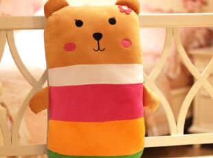 毛绒玩具 轻松小熊 蜜蜂枕 抱枕 靠垫 创意礼品,玩偶,
