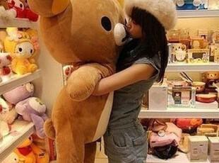 包邮特卖SAN-X Rilakkuma 正版轻松小熊 公仔110cm轻松熊,玩偶,