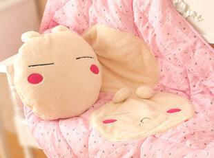 七夕礼物卡通多功能抱枕靠垫兔斯基空调被节日礼物空调毯抱枕两用,玩偶,