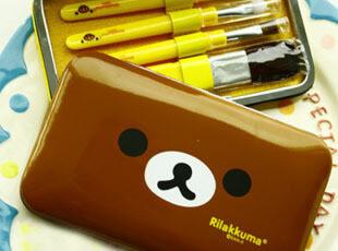 特。日本Rilakkuma轻松熊&鼻孔小鸡 彩妆化妆套装 化妆刷 27,玩偶,