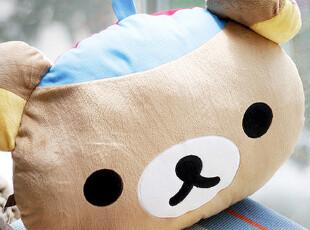 原单SAN-X Rilakkuma轻松熊 懒懒熊 新款双面靠垫 抱枕,玩偶,