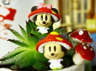 东京迪斯尼disney 变装蘑菇乐园 米奇维尼史迪奇摆件挂件126,玩偶,