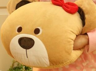 米西公主 韩国小熊 情侣可爱抱枕靠垫卡通暖手抱枕手捂手插抱枕,玩偶,