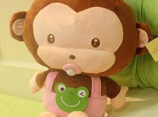 米西公主正版 可爱猴子 吃奶嘴的猴宝宝 抱枕 午休枕毛绒玩具生日,玩偶,