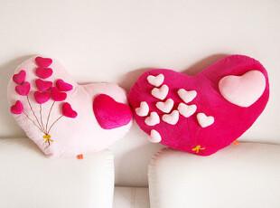 猫阁阁 浪漫花束立体爱心 情侣毛绒玩具靠垫/抱枕/腰枕 生日礼物,玩偶,